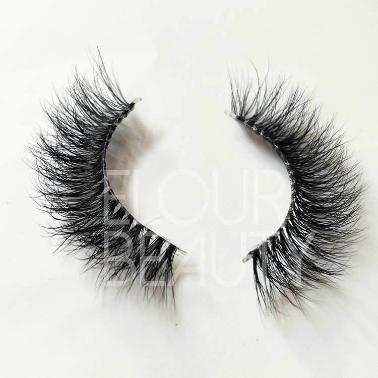 Softest 3d naked band custom mink lashes wholesale ED16